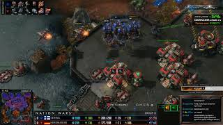 ★ Германия vs Финляндия | NATION WARS PLAY-OFF | StarCraft 2 с ZERGTV ★
