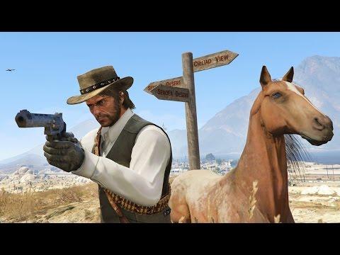 GTA 5 Mods - ULTIMATE RED DEAD REDEMPTION MOD! GTA 5 Red Dead Redemption Mod! (GTA 5 Mods Gameplay)