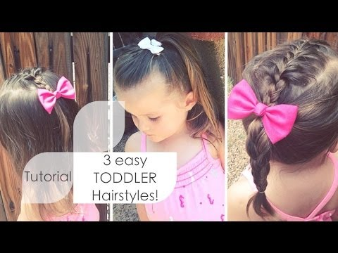 3 easy toddler hairstyles ♡ tutorial  youtube