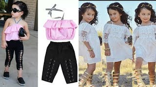 #Latest Small Children's Modern Clothing #Kids Dresses Collection Pictures