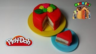 Play - Doh Oyun Hamurundan Dilimli Pasta Yapımı