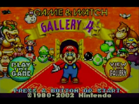 Game and Watch Gallery 4 (Wii U Virtual Console)- Gameplay Footage