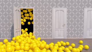 Learning Colors with 3D Balls and doors