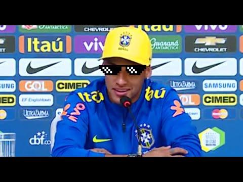 Neymar MITA em entrevista coletiva pela Seleção Brasileira
