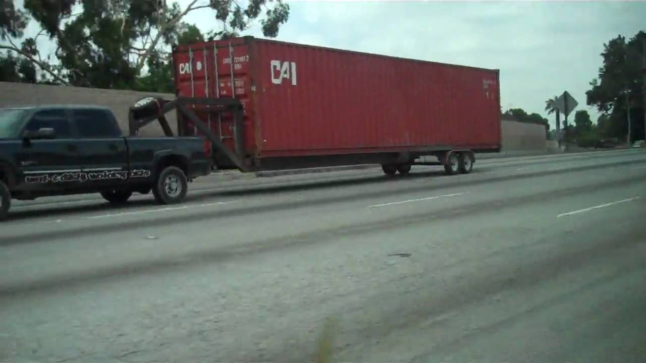 Chevy 5th Wheel Pulling A Container Youtube