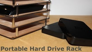 Portable Hard Drive Rack