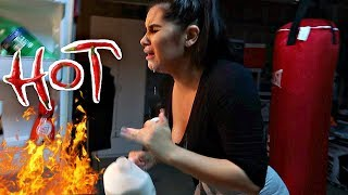 WORLD'S HOTTEST HOT SAUCE PRANK ON GIRLFRIEND!! *SHE CRIES*