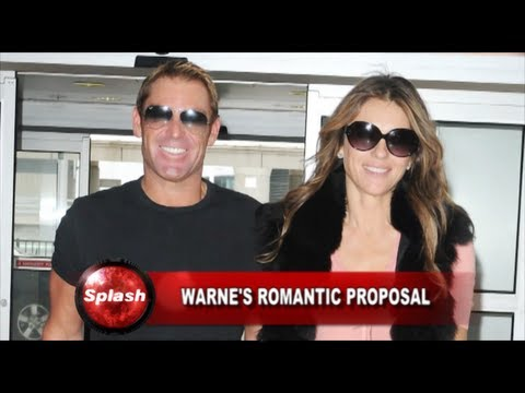 Shane Warne describes Liz Hurley proposal as 'very romantic', Katie Price... Celebrity Newsbeat