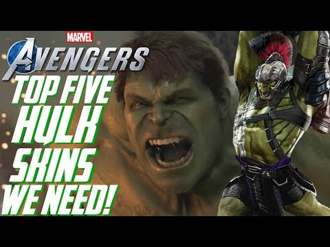 The Avengers Project: TOP 5 HULK SKINS/SUITS We Need in Marvel's Avengers!!!
