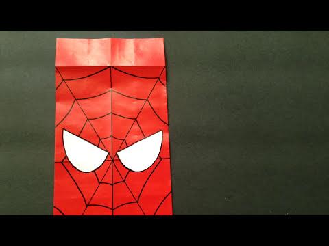 Bolsitas de sorpresa del Hombre Araña - paso a paso DIY spiderman