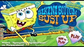 SpongeBob SqaurePants Bikini Bottom Bust Up - Games for kids