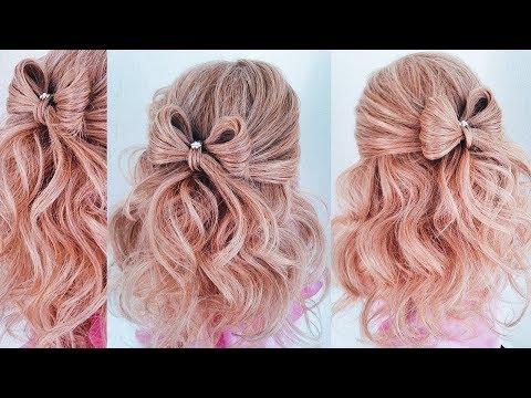 ★ Бант из волос. Прическа на выпускной/1 сентября/ 8 марта★ Крупные Локоны ★ Hair BOW With Curls