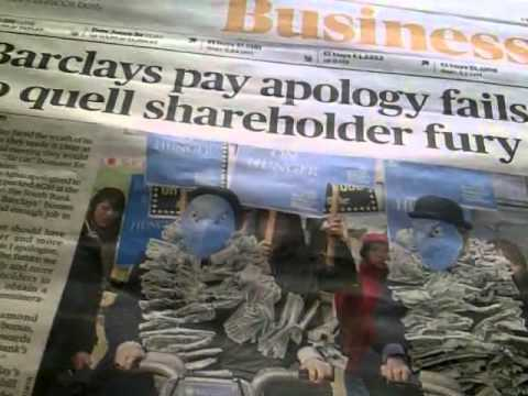Barclays Shareholders Protest Against Outragous Banster Bonuses