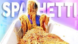 SPAGHETTI BATH CHALLENGE!