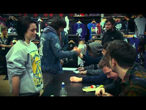Lower Than Atlantis in store signing at Pulp Nottingham 11/02/13