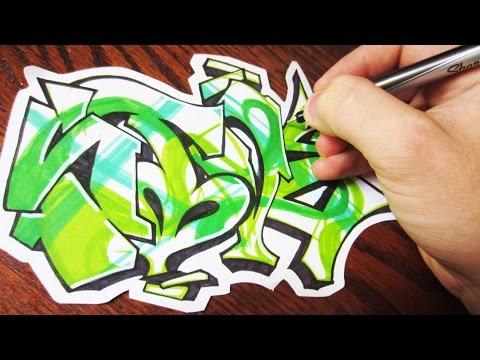 Green Feen Graffiti Speed Art