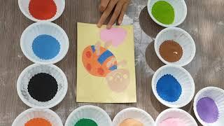 Đồ chơi trẻ em, vẽ tranh cát hình con ong kids @@Children's toys, children's sand painting@@
