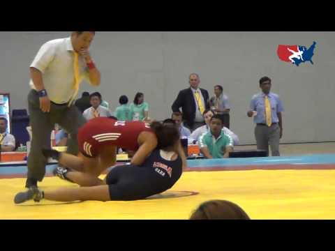 2012 Junior Worlds - FW 48kg - Kristi Garr (USA) vs. Emilia Vuc (ROU)