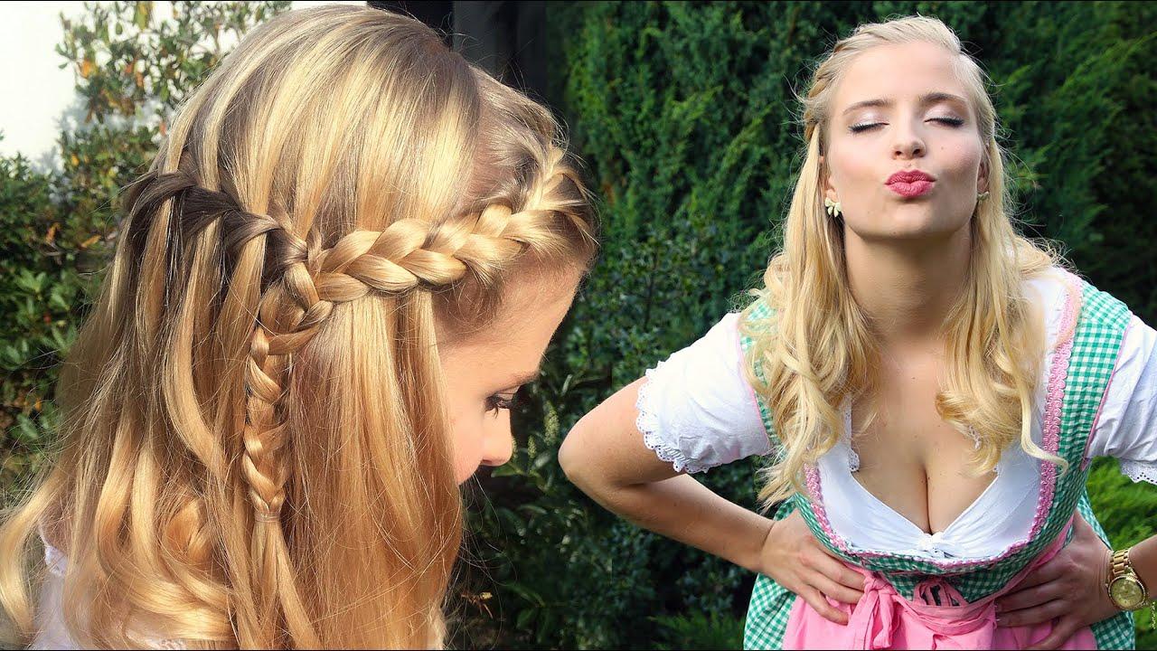 Wiesn Frisuren Mittellange Haare Anleitung