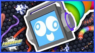 SLITHER.IO 🐍 My BIGGEST SNAKE YET! GIANT SNAKEDROID!► Fandroid the Musical Robot!