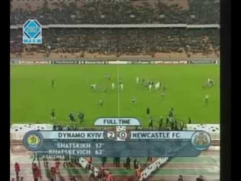 Динамо Киев - Ньюкасл Юнайтед 2-0  ЛЧ 2002/03 (обзор)