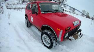 Нива 4х4 тест-драйв по снегу. LADA NIVA