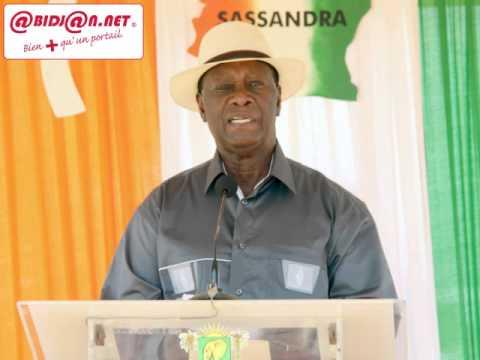 Visite d`Etat dans le Gbôklè: Allocution du président Alassane Ouattara à Sassandra