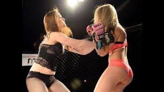 Đấu võ đài nữ lột quần luôn (full fight 2018)