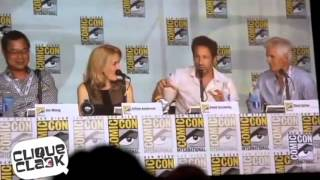 Best complicity moments between Gillian Anderson and David Duchovny at SDCC 2013
