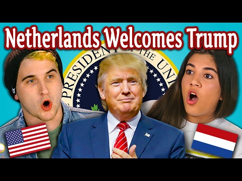 TEENS REACT TO THE NETHERLANDS WELCOMES TRUMP