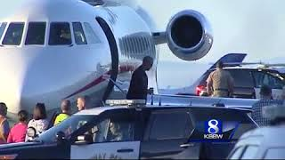 Former President Obama arrives in Monterey