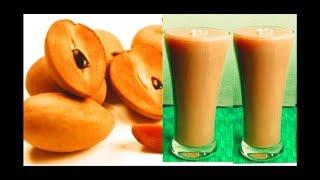 CHIKOO MILKSHAKE |  SAPOTA JUICE | How To Make Sapota Milkshake