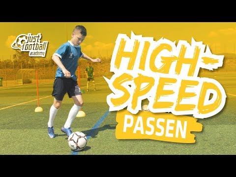 Fussballtraining: High-Speed - Passen - Technik
