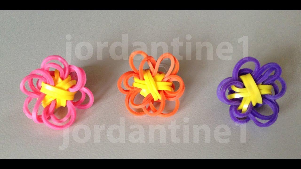 new rainbow loom solid flower charm