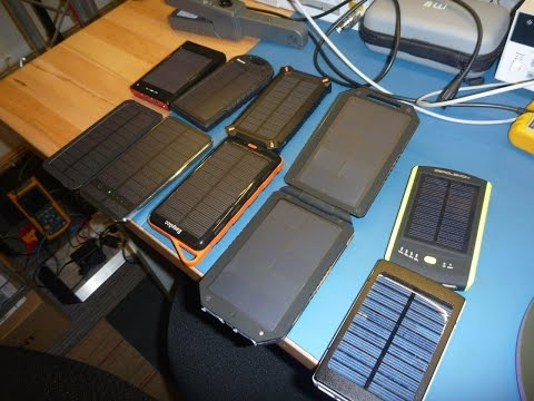 Solar USB Power Bank Tests / Review