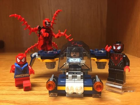 LEGO Carnage SHIELD Sky Attack Set Review! Marvel Ultimate Spiderman
