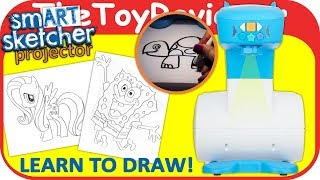 smART Sketcher Projector How to Draw Sketch Trace Fluttershy Unboxing Toy Review by TheToyReviewer