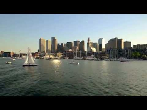 Boston Skyline From Boston Harbor
