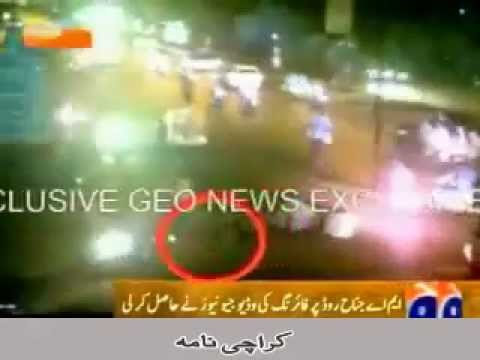 MQM Target Killers CCTV on Motorcycle Wearing  Paint Shirt  Encounter Police Try  Killing Pathans