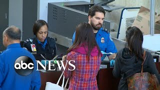 The government shutdown impacts security at US airports