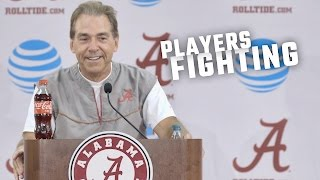 Nick Saban tells an interesting story about players fighting
