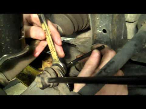 Clunking sound;  Replacing sway bar link. By: Shayne B.