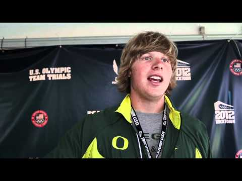 University of Oregon's Sam Crouser on his performance in javelin Olympic Trials prelim