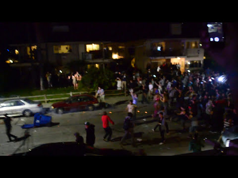 Video Footage of Deltopia Riot in Isla Vista