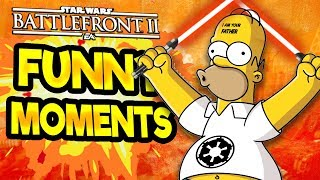 Star Wars Battlefront 2 Funny Moments Montage [FUNTAGE] #23 - Simpsons Special!