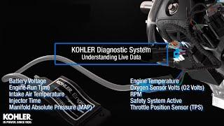 KOHLER Diagnostic System Live Data: Throttle Position Sensor (TPS)