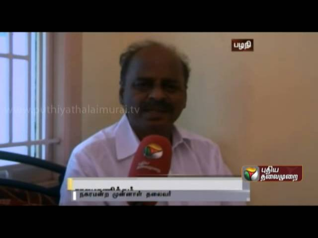 Palani reeling under water shortage with residents the completion of the pending water project