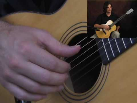 Beginner fingerstyle acoustic guitar lesson rest free stroke