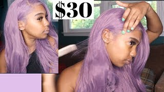 MOST NATURAL LOOKING LAVENDER SYNTHETIC WIG! Ft. Leeven Hair