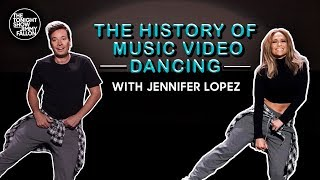 The History of Music Video Dancing (w/ Jennifer Lopez & Jimmy Fallon)